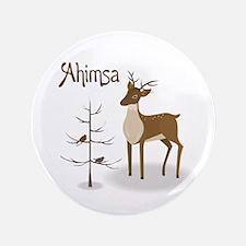 """Ahimsa Holiday 3.5"""" Button"""