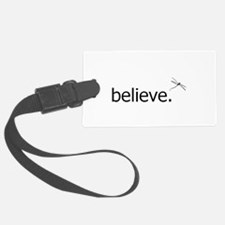 believe black on white v2.png Luggage Tag