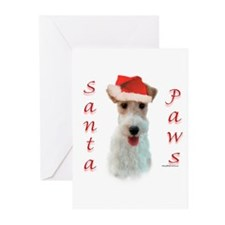 Santa Paws Wire Fox Greeting Cards (Pk of 10)