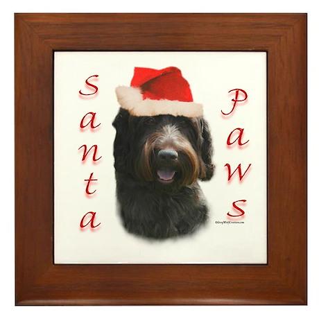 Santa Paws Wirehaired Framed Tile