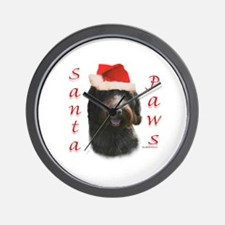 Santa Paws Wirehaired Wall Clock