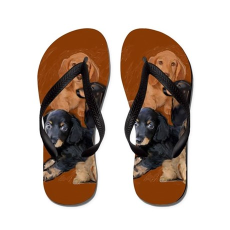 funny dog gifts dachshund Flip Flops