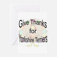 Thanks for Yorkie Greeting Cards (Pk of 10)