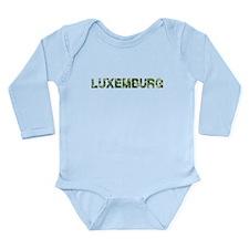 Luxemburg, Vintage Camo, Long Sleeve Infant Bodysu