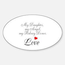 My Daughter,my Angel Sticker (Oval)