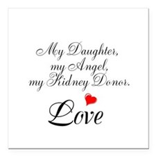 """My Daughter,my Angel Square Car Magnet 3"""" x 3"""""""