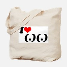 Cute I heart boobs Tote Bag