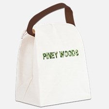 Piney Woods, Vintage Camo, Canvas Lunch Bag