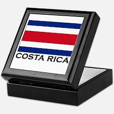 Costa Rica Flag Stuff Keepsake Box
