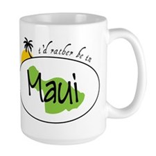 Rather Be In Maui Ceramic Mugs