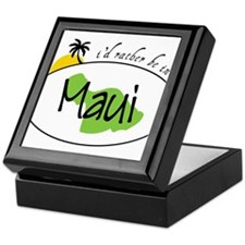 Rather Be In Maui Keepsake Box