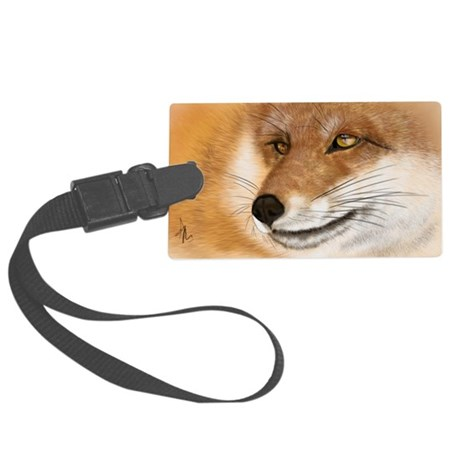 Vulpine Stare Large Luggage Tag