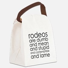 Dumb Rodeos Canvas Lunch Bag