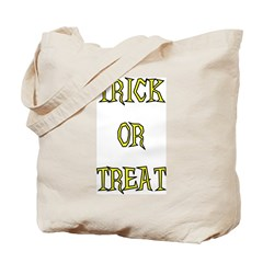 Classic Canvas Trick or Treat Bag, black & yellow