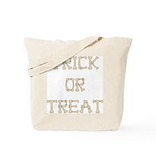 Classic Canvas Trick or Treat Bag, boney lettering
