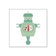 "Barrel Robot Square Sticker 3"" x 3"""