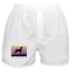 vizsla dog w/purple mountains Boxer Shorts