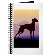 vizsla dog w/purple mountains Journal