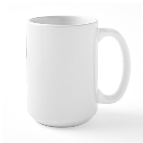vizsla dog w/purple mountains Large Mug