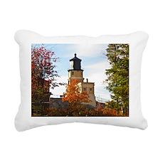 Split Rock Lighthouse Rectangular Canvas Pillow