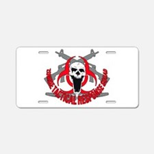 Zombie tactical response red Aluminum License Plat