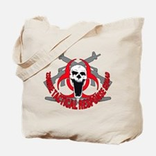 Zombie tactical response red Tote Bag