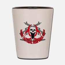 Zombie tactical response red Shot Glass