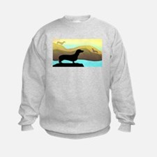 dachshunds by the sea Sweatshirt
