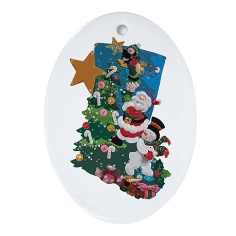 Hang it On the Mantle! Ornament (Oval)
