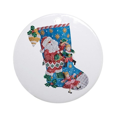 Santas a Puppeteer? Ornament (Round)