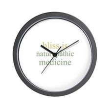 bliss is NATUROPATHIC MEDICIN Wall Clock