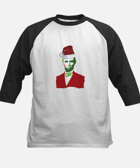 Merry Xmas, Abe! Kids Baseball Jersey
