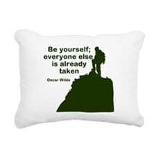 Be Yourself Rectangular Canvas Pillow