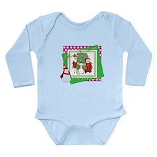 Santa's Christmas Card Long Sleeve Infant Bodysuit