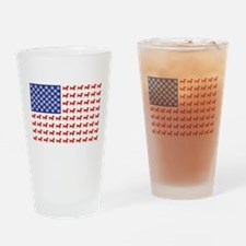 Patriotic Dachshund/USA Drinking Glass