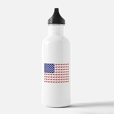 Patriotic Dachshund/USA Water Bottle