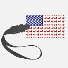 Patriotic Dachshund/USA Luggage Tag