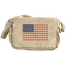 Patriotic Dachshund/USA Messenger Bag