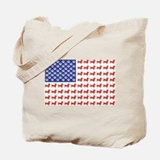 Patriotic Dachshund/USA Tote Bag