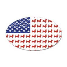 Patriotic Dachshund/USA Wall Decal
