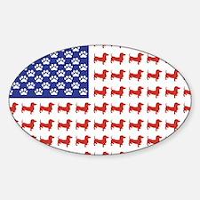 Patriotic Dachshund/USA Decal
