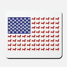 Patriotic Dachshund/USA Mousepad
