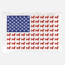 Patriotic Dachshund/USA Pillow Case