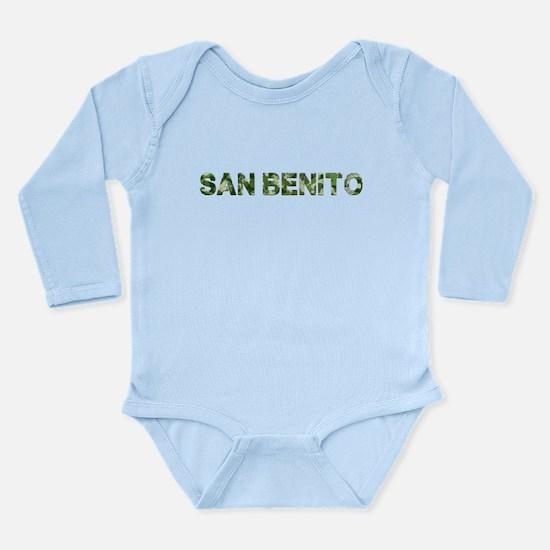 San Benito, Vintage Camo, Long Sleeve Infant Bodys