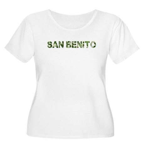 San Benito, Vintage Camo, Women's Plus Size Scoop