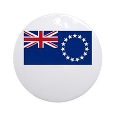 The Cook Islands Flag Picture Ornament (Round)
