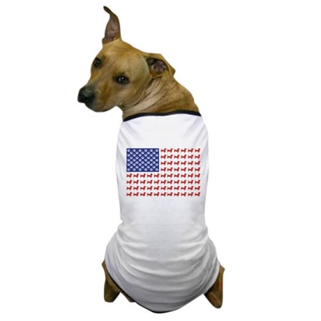 Patriotic Dachshund/USA Dog T-Shirt