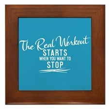Cute Sports motivational Framed Tile