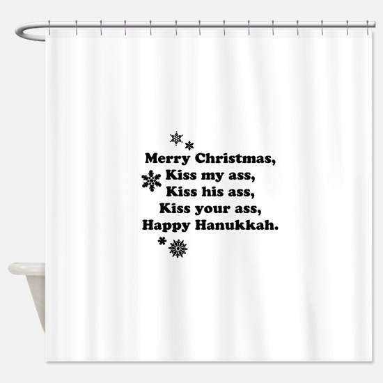 Merry-BKXmas.png Shower Curtain