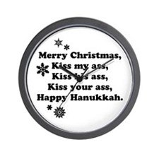 Merry-BKXmas.png Wall Clock